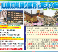 熊本コース 山鹿灯篭踊り鑑賞と被災の熊本城