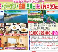 宮崎青島コース 花ガーデン庭園三昧とバイキング又は中華コース