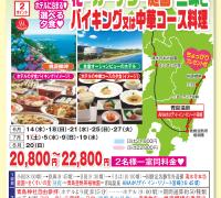 宮崎コース 花・ガーデン・庭園 三昧とバイキング又は中華料理コース