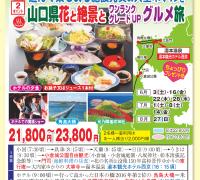 山口コース 山口県花と絶景とワンランクUPグルメ旅